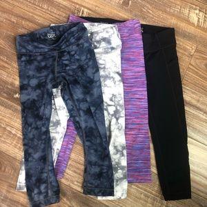 Athleta girl Capri leggings lot of 4 size XS (6)